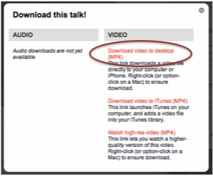 how to download ted videos
